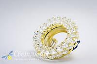 Встраиваемый потолочный светильник Feron CD4141 Mr16 под светодиодную лампу  led или галогенную диммируемую прозрачный/золото