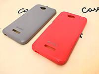 TPU накладка Melkco для HTC Desire 616 (2 цвета) + пленка