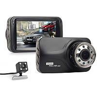 Автомобильный двухкамерный видеорегистратор с выносной камерой заднего вида CAMCORDER T639