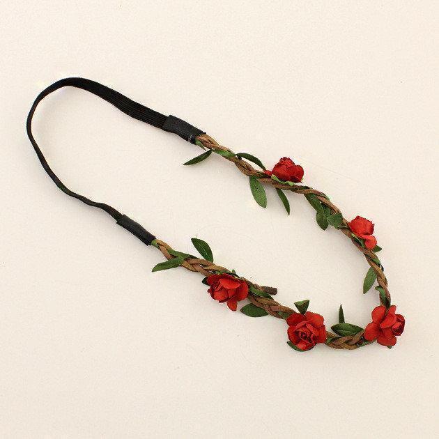 Венок на голову с розами