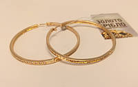 Серьги- кольца золотые, вес 12.2 грамм.