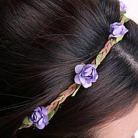 Венок для волос из цветов