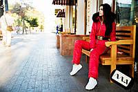 Комбинезон женский красный зимний Новинка Монклер АМ/-01207