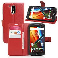 Чехол Motorola Moto G4 / G4 Plus / XT1622 / XT1642 книжка PU-Кожа красный, фото 1