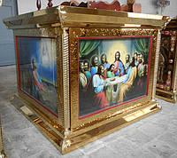 Облачение на престол из булата с чеканкой и литографией 125 на 125см