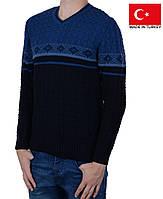 Недорогой молодежный свитер плотной вязки