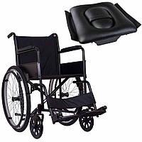 Стандартная инвалидная коляска, OSD Economy на надувных колесах с санитарным оснащением