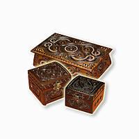 Шкатулки деревянные резные