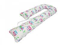 Подушка для беременных KIDIGO J - образная Сова (с наволочкой) PDV-J1