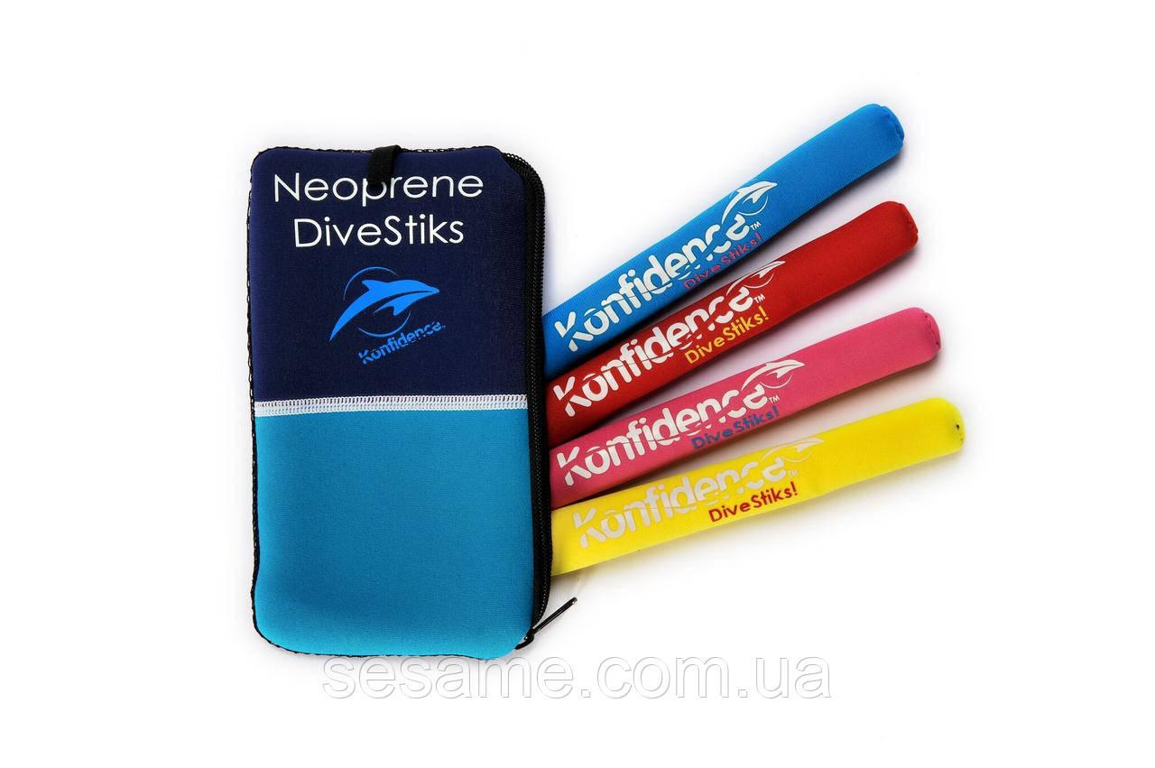 Неопреновые палочки (тонущие) для ныряния  Konfidence DiveStiks (DS01)