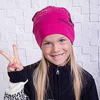Модная шапочка для девочек на осень 2017 - Happy Day - Артикул 2111
