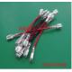 Перемычка (соединитель) 250 мм 0,75мм2 под клемы F2 для аккумуляторов, красная, цена за штуку
