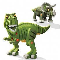 Мягкий конструктор динозавры T-Rex и Трицератопс (Канадского производства) (200 элементов).