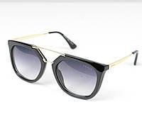 Очки женские от солнца Prada Cinema черные , магазин очков
