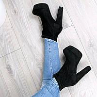 Ботильоны женские демисезонные Vices Jessy черные, ботинки женские