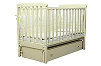 Кроватка для новорожденных Слоновая кость Верес ЛД12 продольный маятник