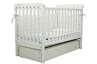 Кроватка для новорожденных Белая Верес ЛД12 продольный маятник