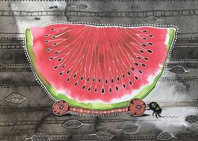 "Милая открытка ""Арбузик"", фото 1"