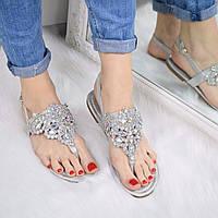 Босоножки женские Stone серебро 3297 (сандалии)