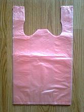 Пакет майка 24*42 /10 мкм, 200 шт. уп. фасувальний без печатки, поліетиленові пакети пакувальні міцні купити