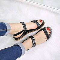Босоножки женские Steel черные 3317 (сандалии)