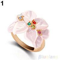 Кольцо женское бижутерия Цветы 17,5