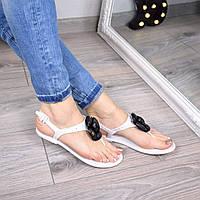 Босоножки женские Chanel белые 3403 (сандалии)