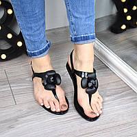 Босоножки женские Chanel черные 3404 (сандалии)
