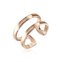 """Серебряное кольцо с позолотой на фалангу """"417"""""""