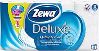 Туалетная бумага Zewa Делюкс белая 8рулонов, 21м, 150листов 3слоя