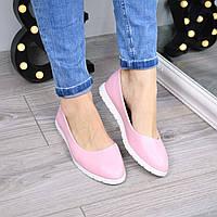 Балетки женские Osmo пудровые 3470, обувь женская
