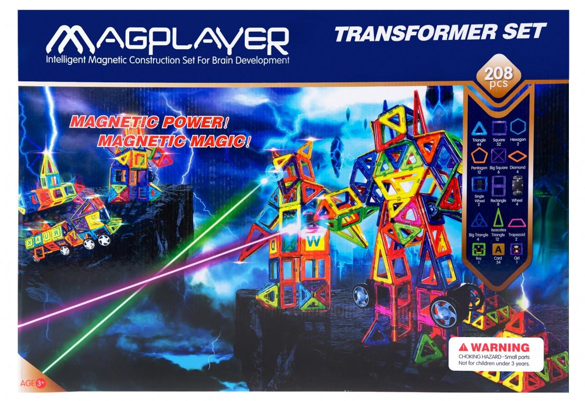 Детский развивающий магнитный конструктор MagPlayer MPB-208