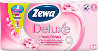 Туалетная бумага Zewa Делюкс Орхидея (розовая) 8рулонов, 21м, 150листов 3слоя