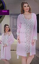Женская ночная рубашка с халатом, комплект