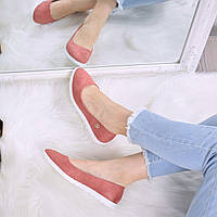 Балетки женские Osmo пудра замша 3497, обувь женская