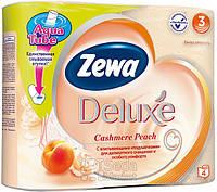 Туалетная бумага Zewa Делюкс персик 4рулона, 21м, 150листов 3слоя