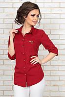 """Элегантная женская рубашка """"Люси"""" с четвертным рукавом (3 цвета)"""