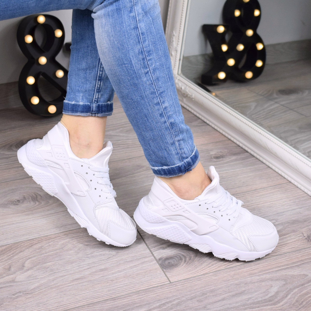 Кроссовки женские Nike Huarache white 3447 41 размер люкс качество