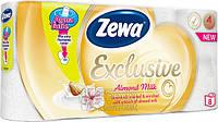 Туалетная бумага Zewa Эксклюзив Миндальное молочко 8рулонов, 19м, 150листов 4слоя
