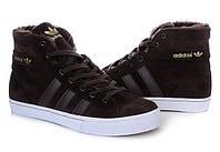 Кроссовки мужские Adidas AdiTennis High Fur  (адидас, оригинал) коричневые 41