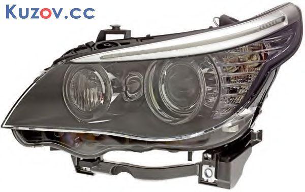 Фара BMW 5 E60 06-10 левая электрич. (БЕЗ AFS) (Depo) LED 63127177727