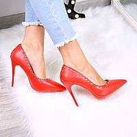 Туфли женские Vices Nino красные 3543, лодочки