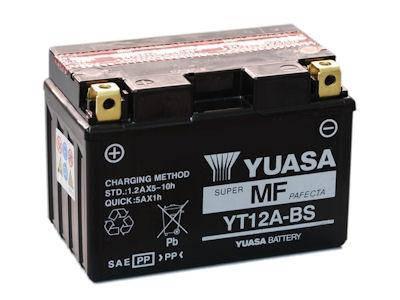 Аккумулятор сухозаряженный AGM 10Ah 175A YUASA YT12A-BS, фото 2