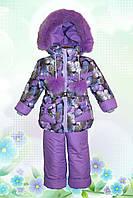 """Детский зимний комбинезон """"Перо"""" фиолетовый"""