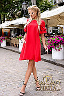 Женское платье красное, синее