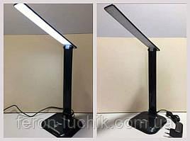 Настольный светодиодный светильник Feron DE1725 9W LED (черный)