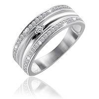 """Серебряное кольцо под белое золото """"242"""""""