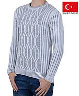 Теплый вязанный мужской свитер.