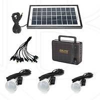 Аккумулятор с солнечной батареей GD-LITE GD-8006A, зарядное устройство