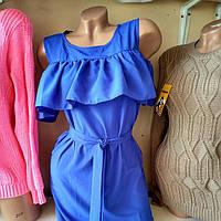 Модное и красивое платье с рюшкой под пояс